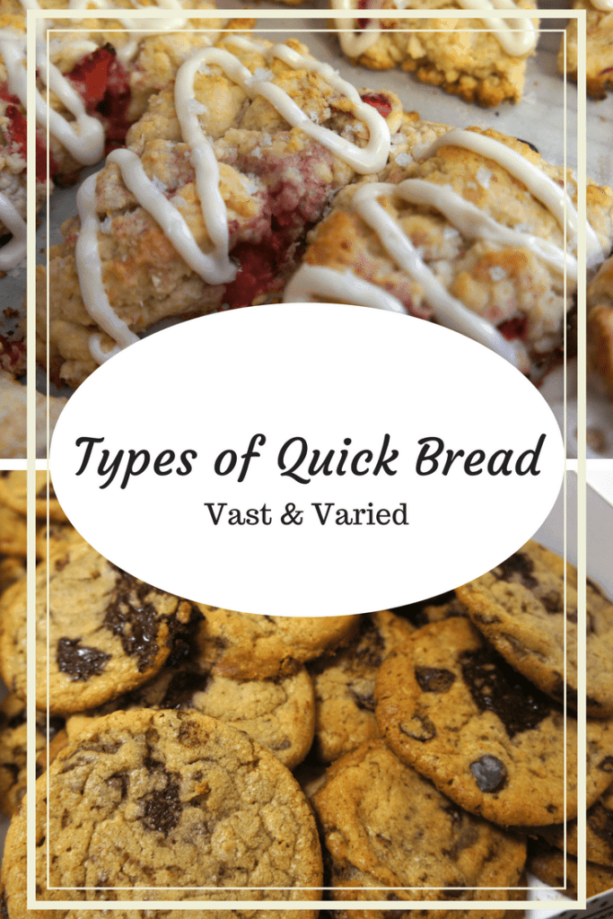 Pinterest graphic for types of quick bread