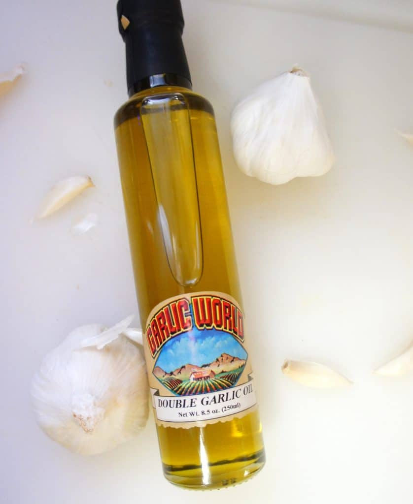 Oils for cooking example of an infused garlic oil made with garlic extract.