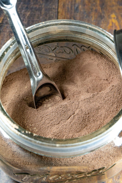 Homemade Hot Cocoa Mix finished products