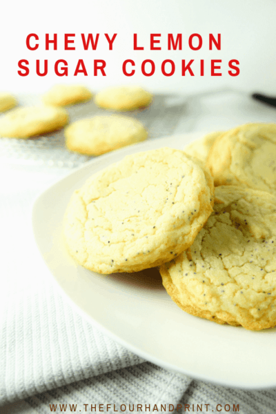 Chewy Lemon Poppy Seed Cookies are soft, sugary and lemony, a perfect sweet treat.